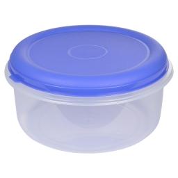 boite ronde 7l avec couvercle - ø29*h14.5cm - indigo