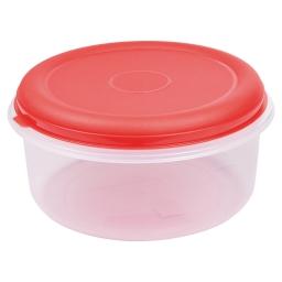 boite ronde 7l avec couvercle - ø29*h14.5cm - rouge