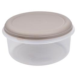 boite ronde 7l avec couvercle - ø29*h14.5cm - taupe