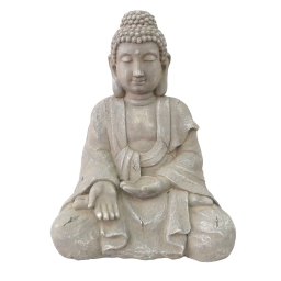 bouddha assis en magnesie - h.57*l.43*34cm