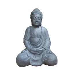 bouddha assis grc h42cm gris