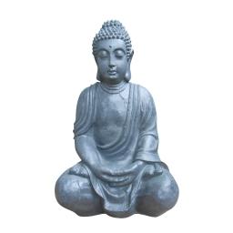 bouddha assis grc h50cm gris