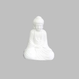 bouddha ceramique 13*9*h19cm blanc
