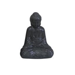 bouddha ceramique 17*13*h25cm gris