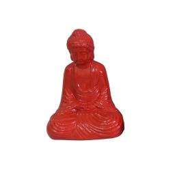 bouddha ceramique 17*13*h25cm rouge