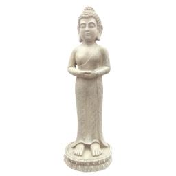 bouddha debout en magnesie - h.79*l.26*23.5cm