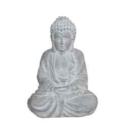 bouddha magnesie 26*16*h37cm blanc
