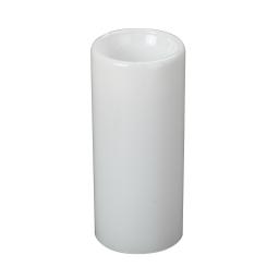 bougeoir en verre-couleur blanche- d6*h13cm