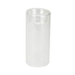 bougeoir en verre-couleur transparente- d6*h13cm