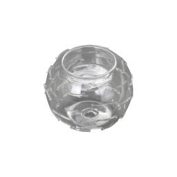 bougeoir en verre-couleur transparente-d8cm
