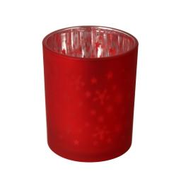 bougeoir etoile-couleur rouge- h7,5*d6cm