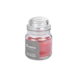 bougie bocal ø6*h.9cm essentiel parfum fruits rouges