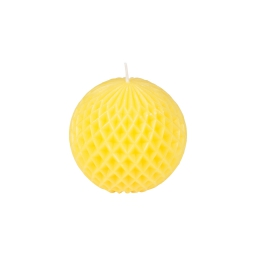 bougie boule ø9.2*h8.7cm tropical coloris jaune