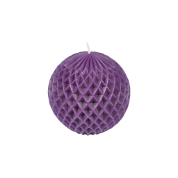 bougie boule ø9.2*h8.7cm tropical coloris violet