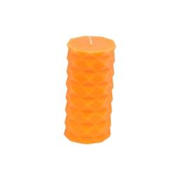bougie pilier ø7*h13.8cm tropical coloris orange