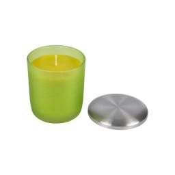 bougie verrine ø8*h9.5cm tropical parfum plaisirs exotiques