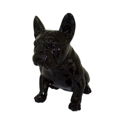bouledogue polyresine 20.5*13*h20.5cm noir