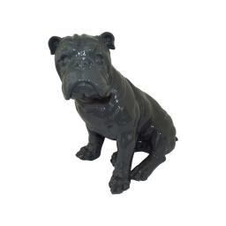 bouledogue polyresine 24.5*18*h27.5cm gris