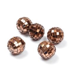 boules a facettes decoratives/8 - couleur chocolat  - ø3cm