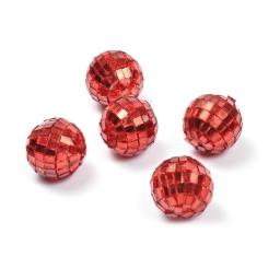 boules a facettes decoratives/8 - couleur rouge - ø3cm