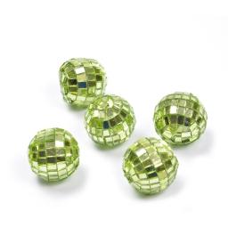 boules a facettes decoratives/8 - couleur vert - ø3cm
