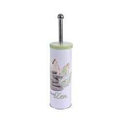 brosse wc metal imprimée zen forest