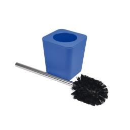 brosse wc plastique effet soft touch vitamine bleu roi