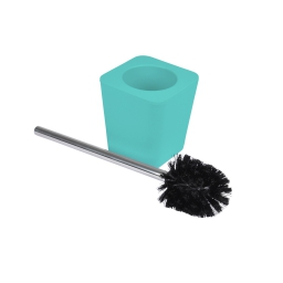 brosse wc plastique effet soft touch vitamine vert menthe