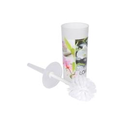 brosse wc plastique imprimé lovely