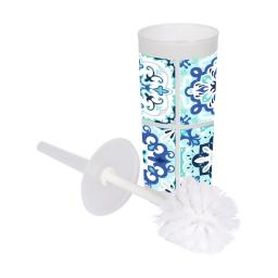 brosse wc plastique imprimé tiles