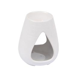 brule-parfum ceramique - design goutte - blanc