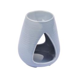 brule-parfum ceramique - design goutte - gris