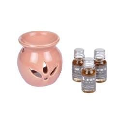 brule-parfum ceramique + inclus 3 bouteilles de 10ml parfum patchouli vanillé