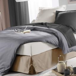 Cache sommier nouettes 160 x 200 cm panama polycoton sommina Lin