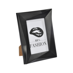 """cadre pp """"100% fashion"""" 13*18cm origami noir"""