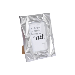"""cadre pp """"ecouter est un art"""" 10*15cm galactic argent"""