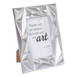 """cadre pp """"ecouter est un art"""" 20*25cm galactic argent - en display de 12"""