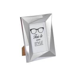 """cadre pp """"fais-le avec style"""" 10*15cm origami argent"""
