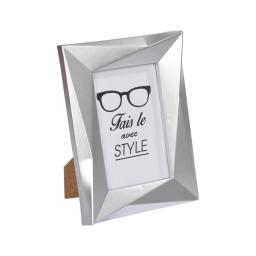 """cadre pp """"fais-le avec style"""" 13*18cm origami argent"""