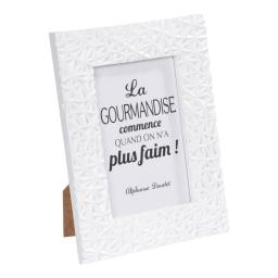 """cadre pp """"la gourmandise"""" 20*25cm geometrique blanc"""