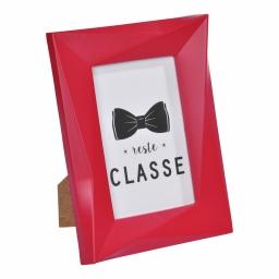 """cadre pp """"reste classe"""" 20*25cm origami rouge"""