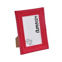 """cadre pp """"une bonne dose d'amour"""" 13*18cm baroque rouge - en display de 12"""