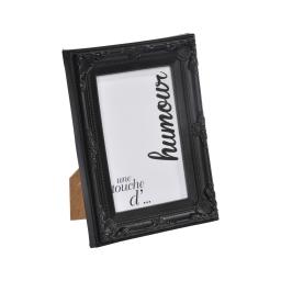 """cadre pp """"une touche d'humour"""" 13*18cm baroque noir - en display de 12"""