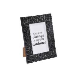 """cadre pp """"vintage tendance"""" 10*15cm geometrique noir"""