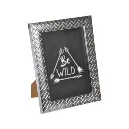 """cadre ps """"be wild"""" 18*24cm tressé argent - en display de 12"""