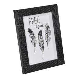 """cadre ps """"free spirit"""" 24*30cm nid d'abeilles noir - en display de 12"""