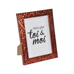 """cadre ps """"toi & moi"""" 18*24cm martelé cuivre - en display de 12"""