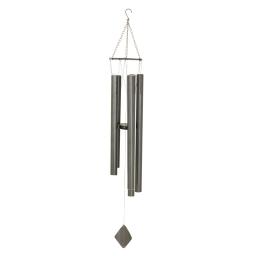 carillon en metal h.120cm - coloris gris anthracite