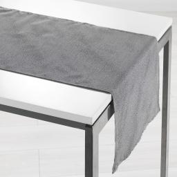 Chemin de table 40 x 140 cm shantung applique scintille Gris