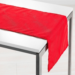 Chemin de table 40 x 140 cm shantung applique scintille Rouge